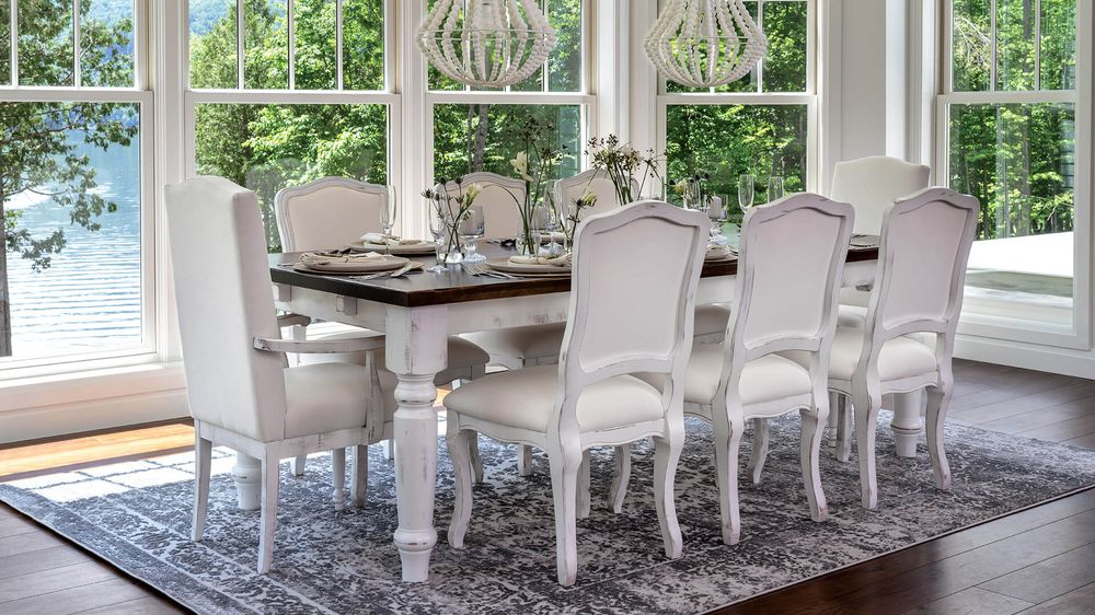 <img src=&quot;dining room.jpg&quot; alt=&quot;bright, spacious dining room with wooden table and white painted dining chairs.&quot;>
