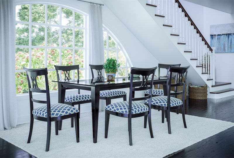 <img src=&quot;dining room.jpg&quot; alt=&quot;white walled dining room with a picturesque view, wooden dining set, and other dining room design elements.&quot;>