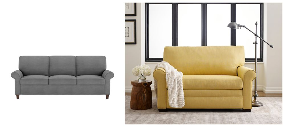 <img src=&quot;sofas&quot; alt=&quot;yellow and gray twin sofas&quot;>