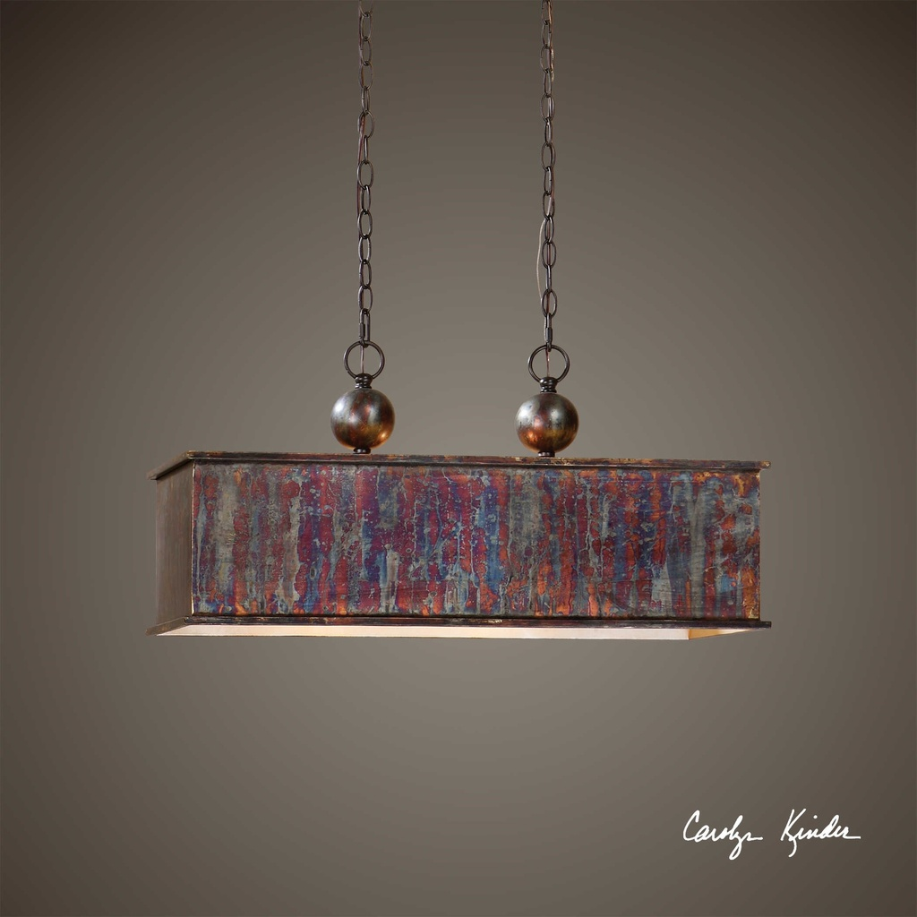 Albiano Rectangle, Two Light Pendant