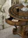 Archivist Round Accent End Table