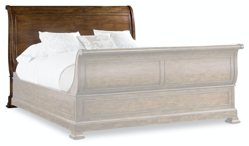 Archivist Queen Sleigh Bed with Low Footboard