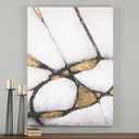 Abstract Art In Gold And Black Hand Painted Canvas