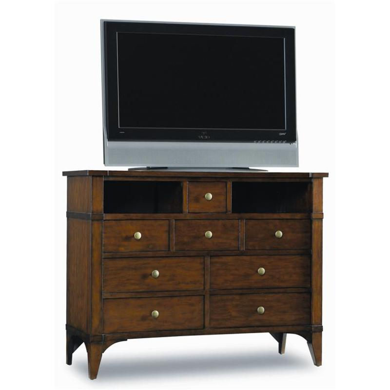 Abbott Place - Dark Cherry Eight-drawer Media Chest