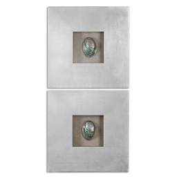 [MC-14195] Abalone Shells Wall Decor, S/2