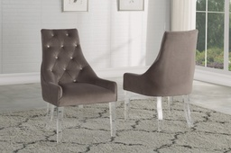 [MC-2535] Vogue Acrylic-Leg Dining Chair