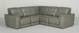 [UPSET1597/A] Omega Power Reclining Sectional with Power Headrests