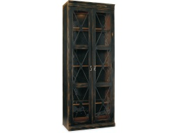 [LRCAB3005-01] Sanctuary Two-Door Thin Display Cabinet - Ebony