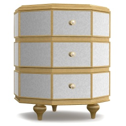 [BRNST158916G] Bewitch Mirrored Nightstand