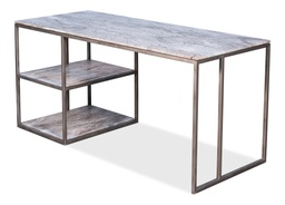 [328950] Open Desk With Shelves, Marble Top