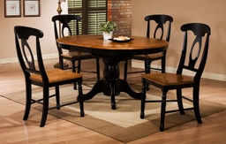 [DRCHRDQ14257AE] 42 inch Round Single Pedestal Table with 15 inch Butterfly Leaf