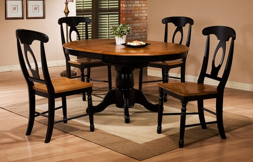 [DRTBL14257AE] 57 Inch Pedestal Table with 15 Inch Butterfly Leaf