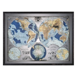 [312173] Mirrored Map of the World Framed Print