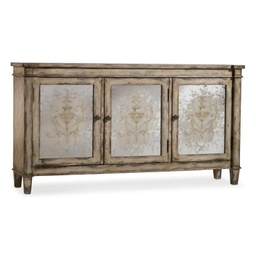 [LRCST5316-01] Brantley Three Door Mirrored Chest