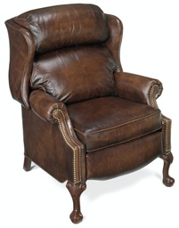 [4115] Maxwell Ball and Claw Reclining Wing Chair