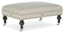 Callie Cocktail Ottoman Gold or Pewter Caster