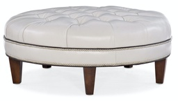 [807-RD] XL Well-Rounded Tufted Round Ottoman