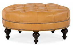 [805-RD] Well-Rounded Tufted Round Ottoman