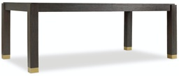 [1600-75200A-DKW] Curata Rectangle Dining Table