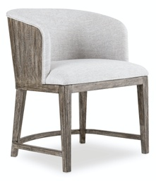 [1600-75800A-MWD] Curata Upholstered Chair with Wood Back