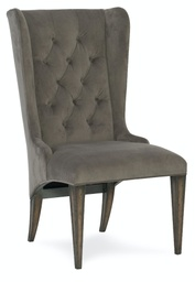 [1610-35001-GRY] Arabella Upholstered Host Chair