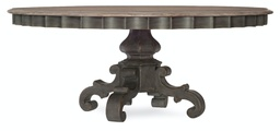 [1610-75211-GRY] Arabella 72 Inch Round Pedestal Dining Table