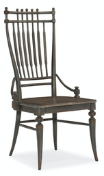 [1610-75310A-GRY] Arabella Windsor Side Chair
