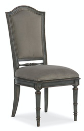 [1610-75410-GRY] Arabella Upholstered Back Side Chair