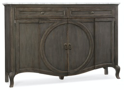 [1610-85005-GRY] Arabella Four Door Two-Drawer Credenza