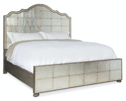 [1610-90160-EGLO] Arabella California King Mirrored Panel Bed