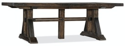 [1618-75207-DKW] Roslyn County Trestle Dining Table with Two 21 Inch Leaves