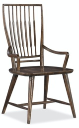 [1618-75300-DKW] Roslyn County Spindle Back Arm Chair