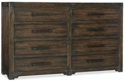 [1618-90011-DKW] Roslyn County Eight-Drawer Dresser