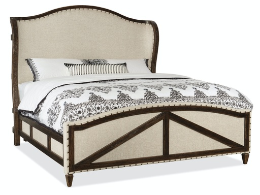 [1618-90866-DKW] Roslyn County King Deconstructed Panel Bed