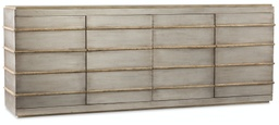 [1620-55484-LTBR] Urban Elevation Metal Entertainment Credenza