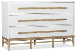 [1620-90101-WH] Urban Elevation Three-Drawer Bachelors Chest