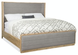 [1620-90160-LTBR] Urban Elevation California King Upholstered Shelter Bed