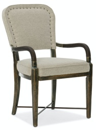 [1654-75400-DKW1] Crafted Upholstered Arm Chair
