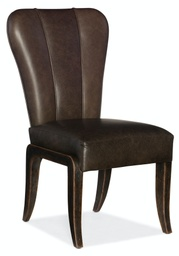 [1654-75610-DKW1] Crafted Leather Side Chair