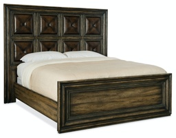 [1654-90250-DKW1] Crafted Queen Panel Bed
