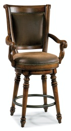 [366-75-550] Waverly Place Return Memory Swivel Counter Stool