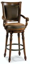 [366-75-560] Waverly Place Memory Swivel Bar Stool