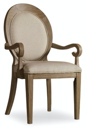 [5180-75402] Corsica Oval Back Arm Chair