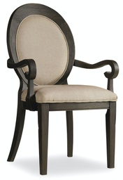 [5280-75402] Corsica Oval Back Arm Chair