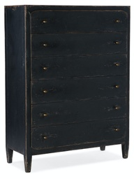 [5805-90010-99] Ciao Bella Six-Drawer Chest- Black