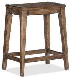 [5960-25350A-BRN] Hill Country Medina Lake Backless Counter Stool