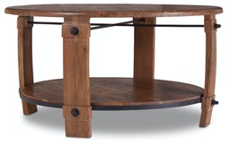 [5513-80111-MWD] Glen Hurst Round Wine Barrel Cocktail Table