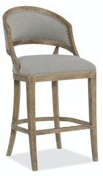 [5750-20360-MWD] Boheme Garnier Barrel Back Bar Stool