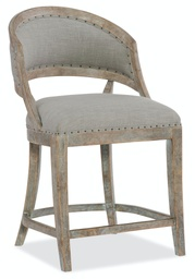 [5750-25350-MWD] Boheme Garnier Barrel Back Counter Stool