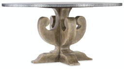 [5750-75213-SLV] Boheme Ascension 60 Inch Zinc Round Dining Table
